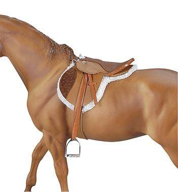 breyer - devon english hunt seat saddle on lovemypets.com