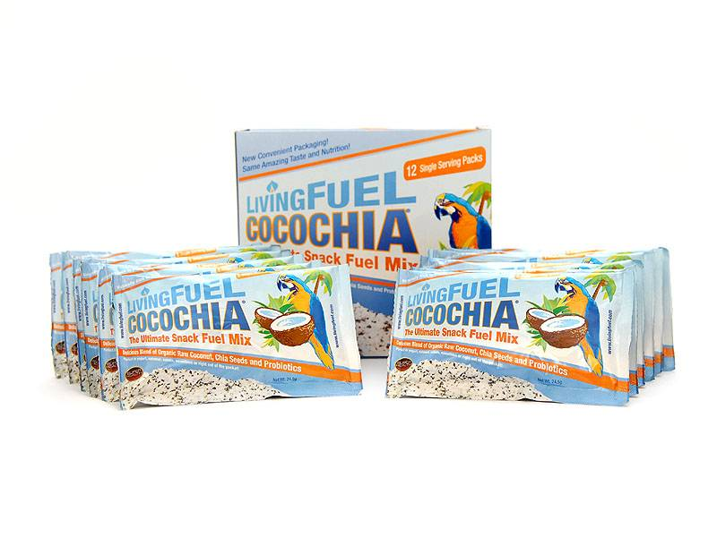 Living Fuel CocoChia Snack Mix - 12 Individuale Packets