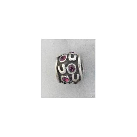 Joppa Retro Silver Random Horseshoe Bead with Stones