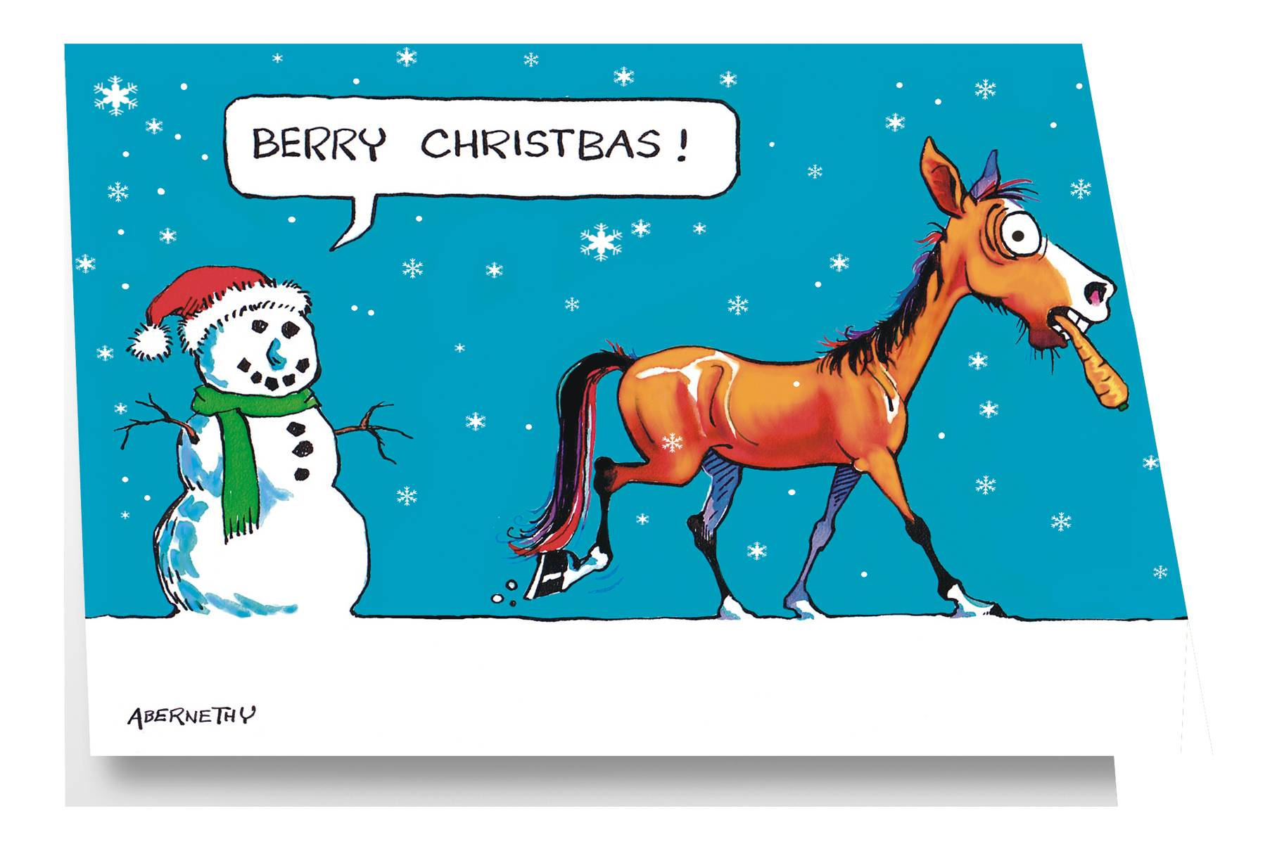 Fergus ''Berry Christbas'' Christmas Card with Envelope