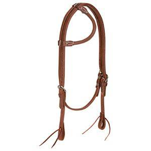 Weaver ProTack Oiled Rolled Sliding Ear Headstall