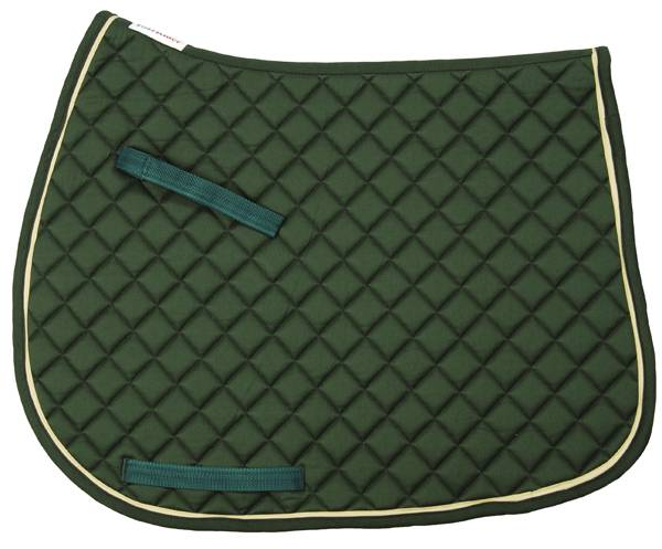 TuffRider Basic All Purpose Saddle Pad with Trim And Piping