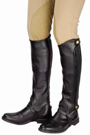 TuffRider Adults Grippy Grain Half Chaps