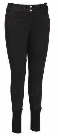 TuffRider Soft Shell Wide WaistBand Knee Patch Breeches