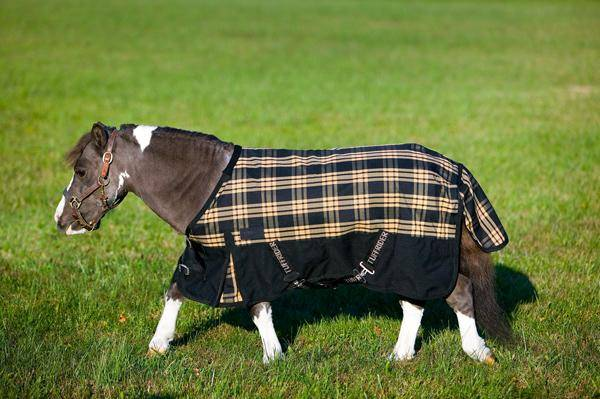 TuffRider 600D Plaid Thermo Manager Lined Miniatureatures Blanket