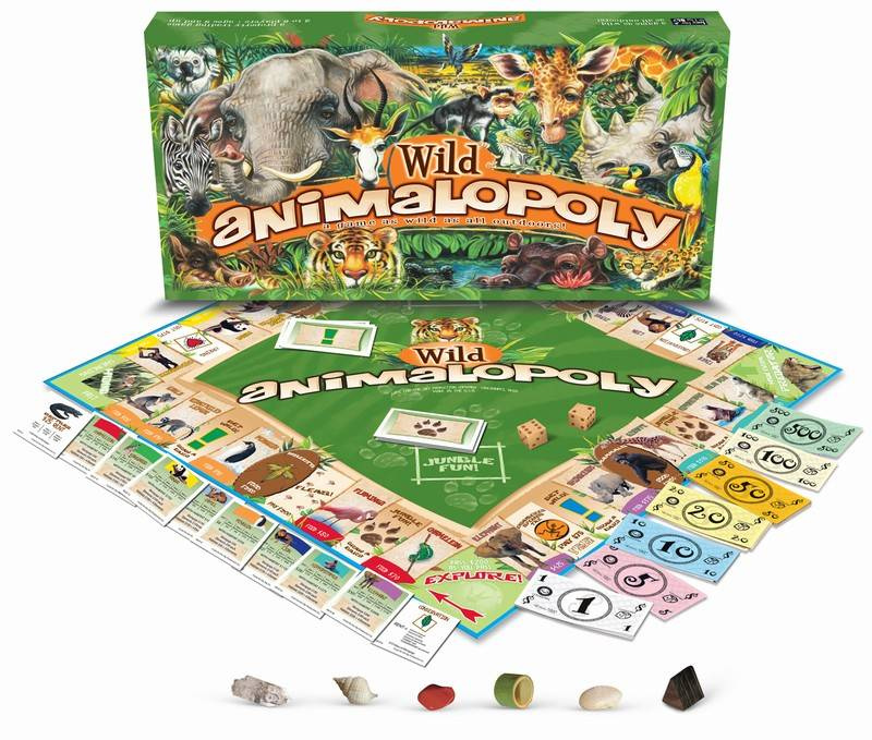 WILD ANIMAL-OPOLY: A Board Game With Some Wild Animal Twists!