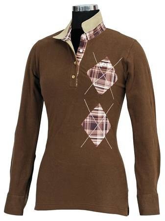 Equine Couture Woodland Long Sleeve Polo
