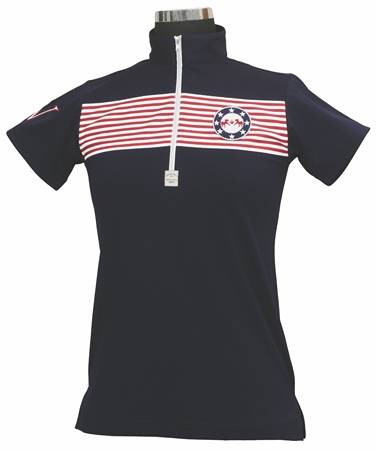 Equine Couture Patriot Polo Shirt Kids S/S