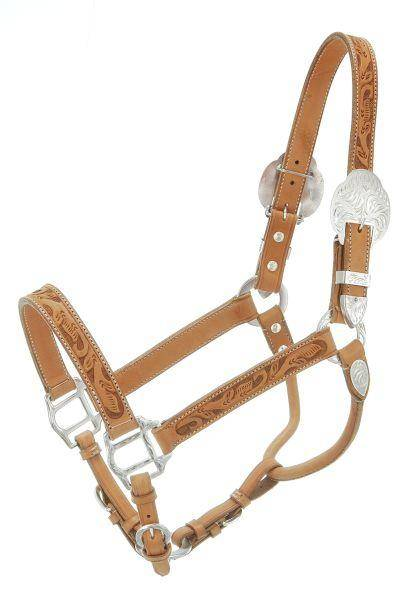 Silver Royal Hand Carved Show Halter