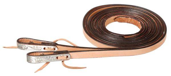 Silver Royal Water Loop Show Reins with Silver