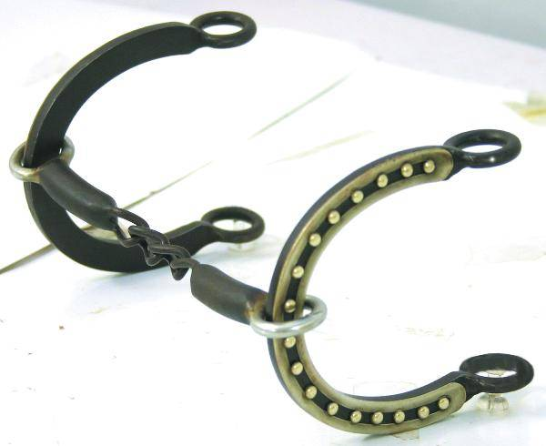Abetta Connie Combs Horseshoe Gag Bit with 3 Pc Chain Mouth