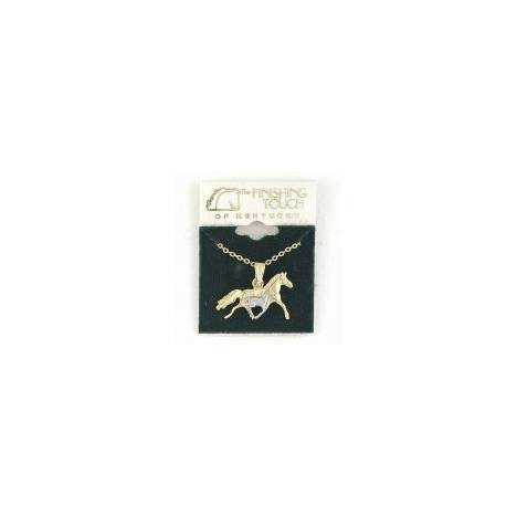 Finishing Touch 2-Tone Galloping Mare and Foal Necklace