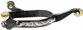 Abetta Floral Trim Roping Spurs