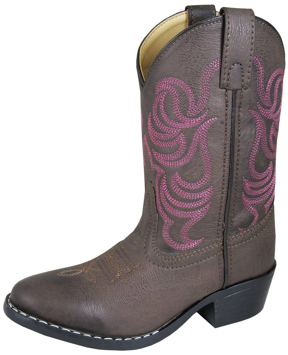 Smoky Mountain Childrens Monterey Boots - Brown/Pink