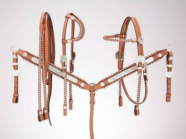Royal King Silver Laced Browband Headstall