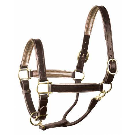 Perri's Soft Metallic Padded Leather Halter
