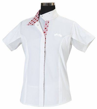 Equine Couture Jenna Show Shirt - Ladies Plus Size, Short Sleeve