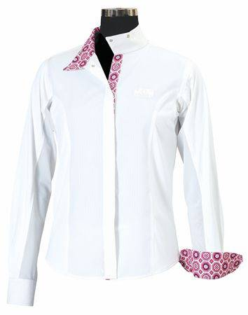 OPEN BOX ITEM: Equine Couture Kelsey Show Shirt - Ladies Plus Size