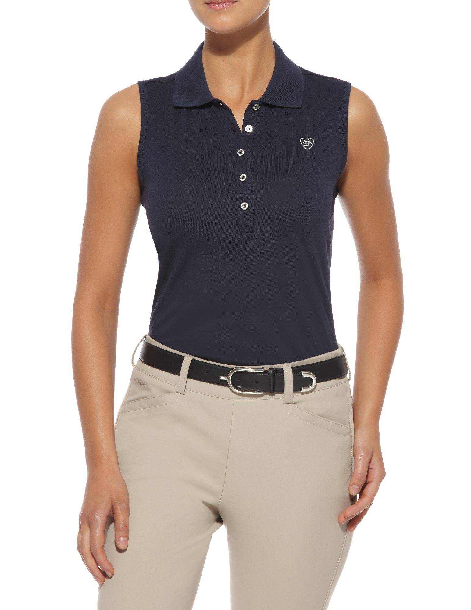 Ariat Prix Sleeveless Polo - Ladies, Navy