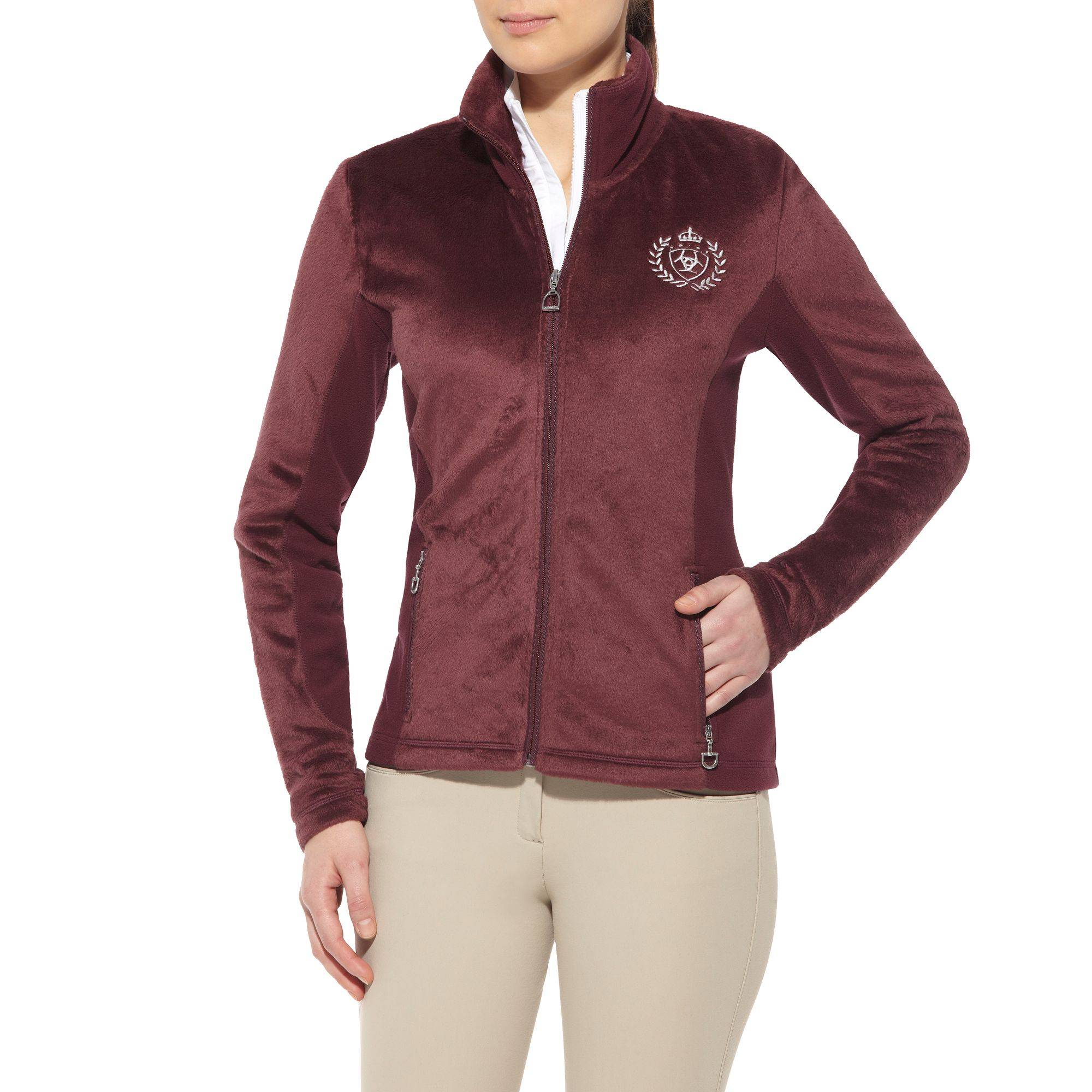 Ariat Stella Fleece Jacket - Ladies, Wine