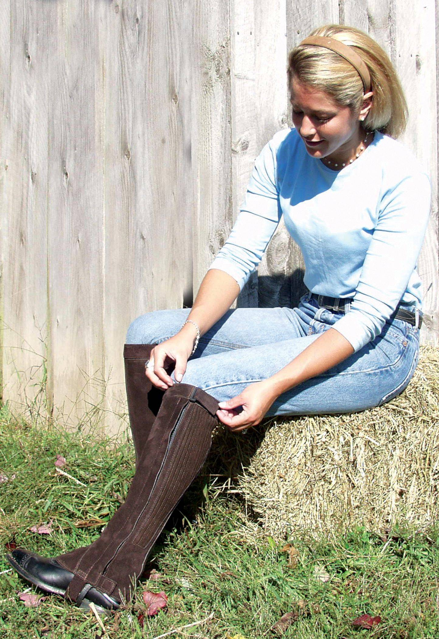 Barnstable Semi Custom Ribbed Suede Half Chaps