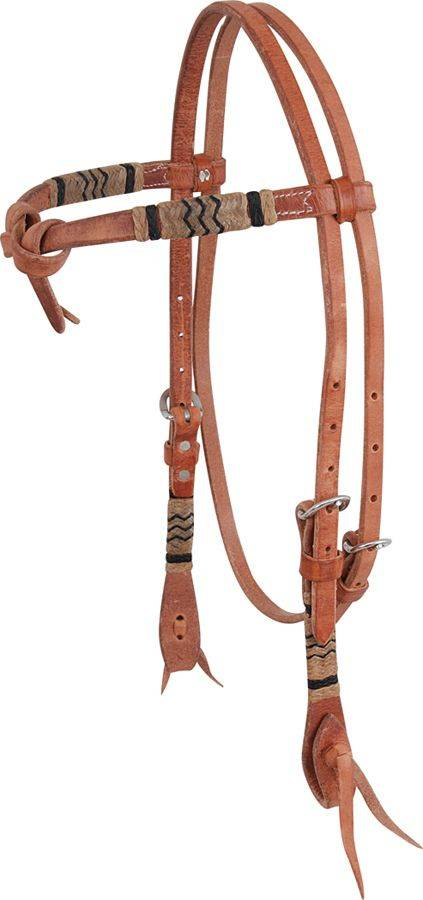 Martin Saddlery Front Tie Rawhide Browband Headstall