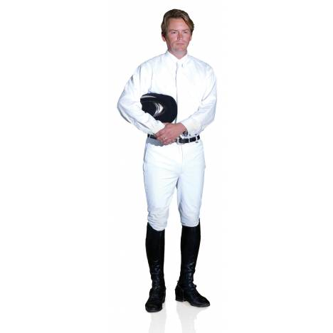 Ovation Men's DX Front Zip Knee Patch Riding Breech
