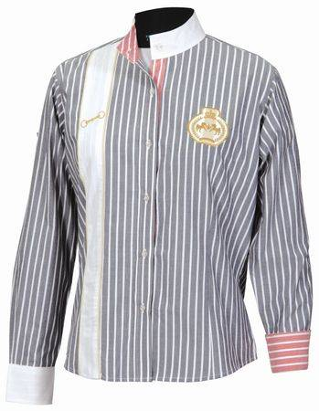 Equine Couture Ladies Ascot Striped Show Shirt