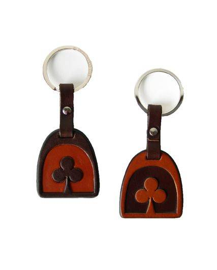 LILO Shamrock Stirrup Leather Key Ring