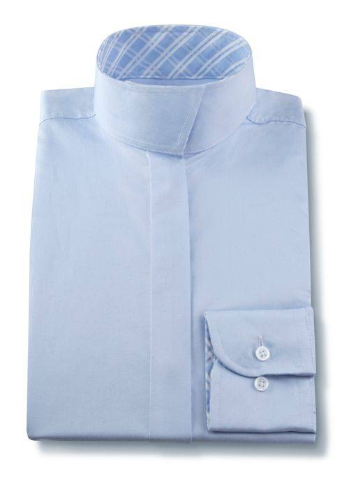RJ Classics Essential Wrap Collar Show Shirt - Ladies, Long Sleeve, Blue