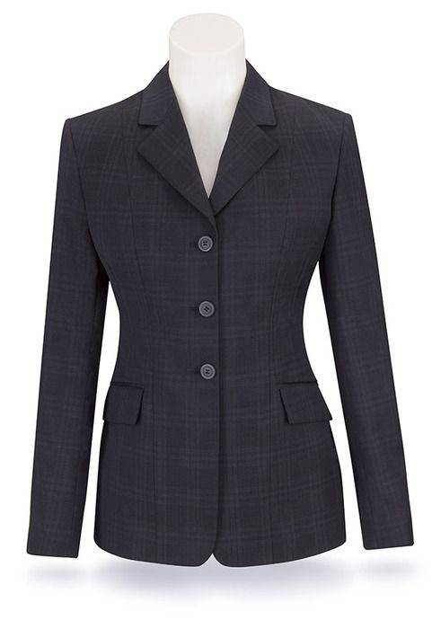 RJ Classics Girls Prestige Show Coat -Navy Plaid