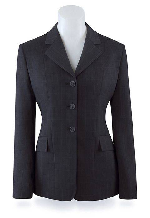 RJ Classics Girls Prestige Show Coat- Dark Navy Plaid