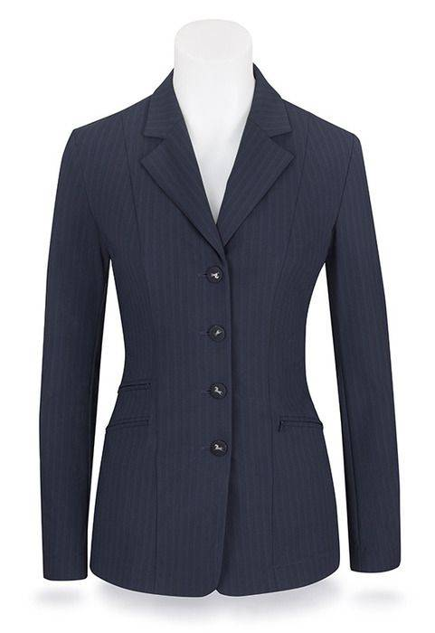 RJ Classics Xtreme Crossover Softshell Show Coat - Ladies, Navy Stripe