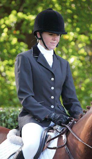 Shires Ladies Show Jacket with Velvet Collar