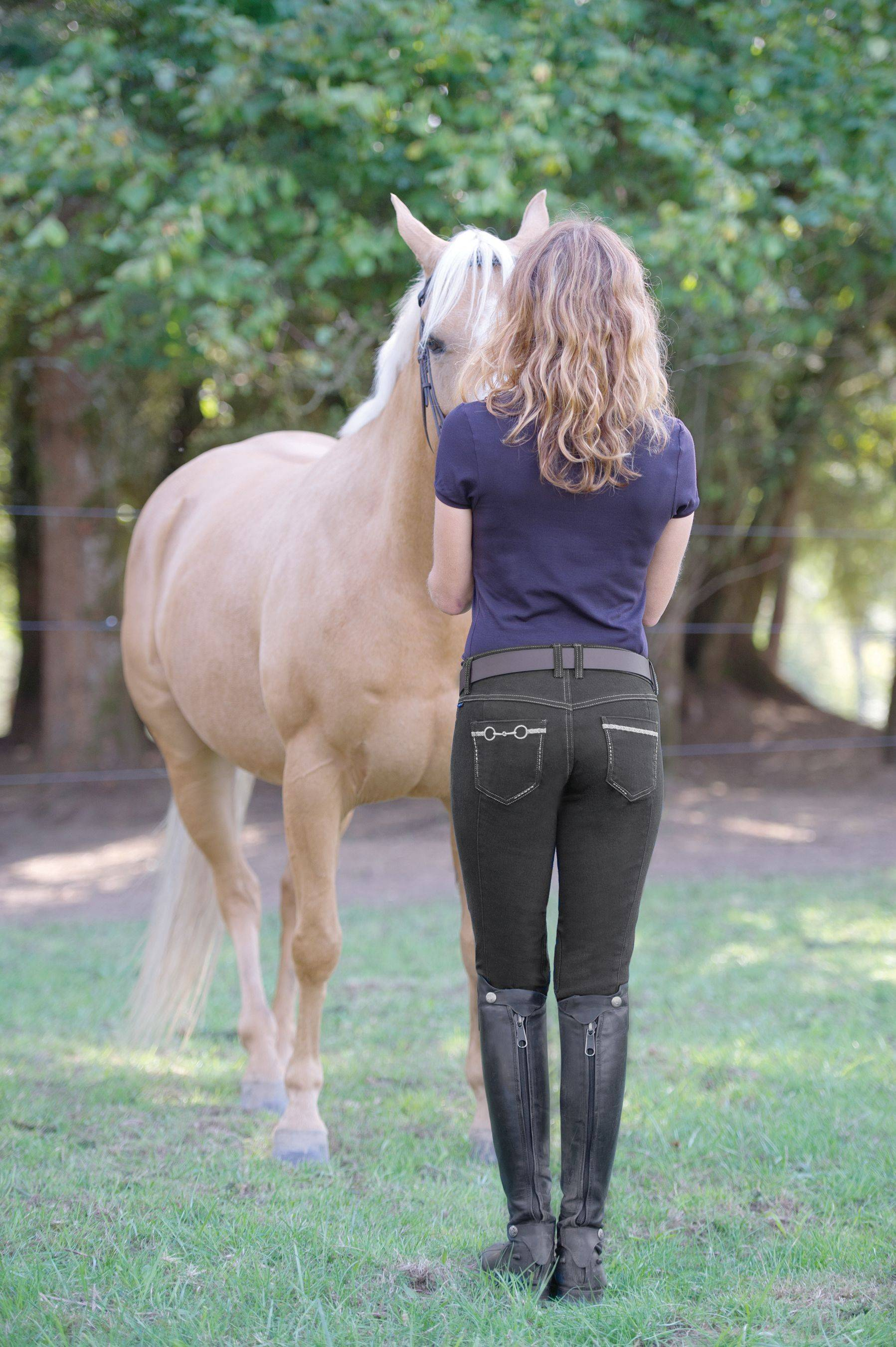 Irideon Verano Bit & Reins Denim Breech - Ladies