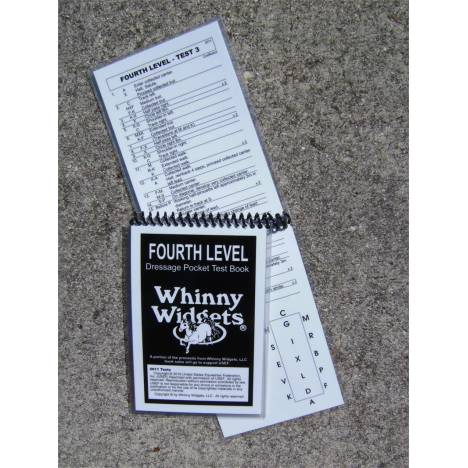 Whinny Widgets 2015 Dressage Test Book - 4th Level