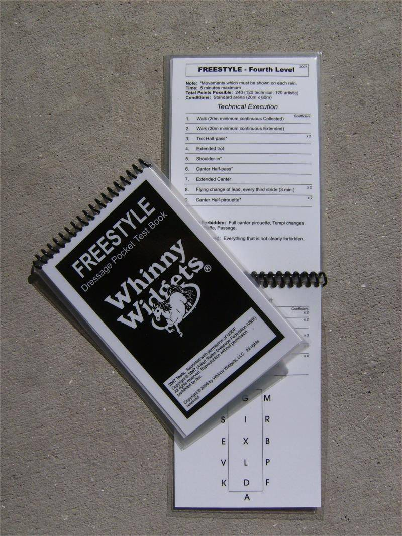 Whinny Widgets 2015 Dressage Test Book - Freestyle