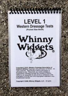 Whinny Widgets 2015 Western Dressage Test Book - Level 1