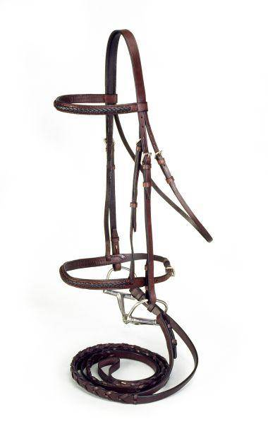 Silver Fox Braided Show Bridle