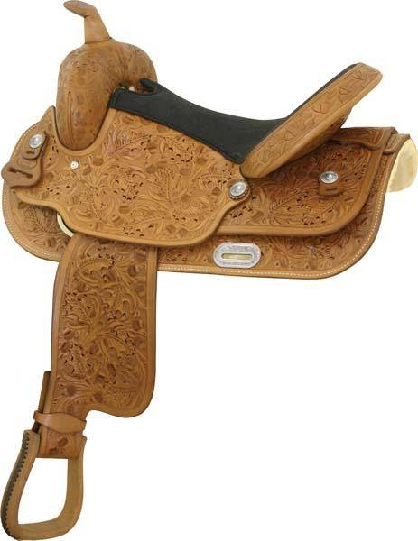Longhorn Oak Leaf Saddle