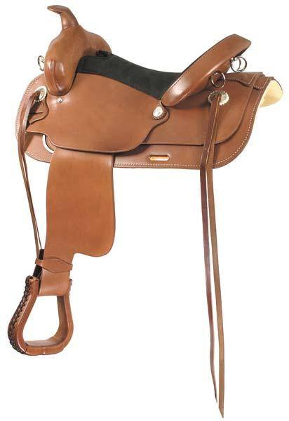 Longhorn Flex Tree Leather Trail Saddle