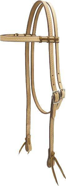 Billy Cook Saddlery Tooled & Lace Browband Headstall