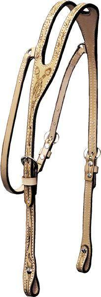 Billy Cook Saddlery Ear Headstall - Oakleaf & Acorn Tooled