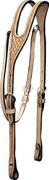 Billy Cook Saddlery Ear Headstall - Basket Tooled