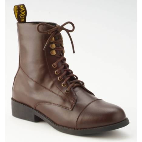 Saxon Equileather Ladies Lace Paddock Boots