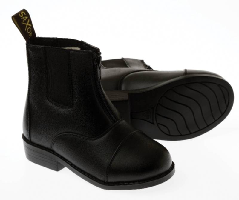Saxon Equileather Zip Front Kids Boots