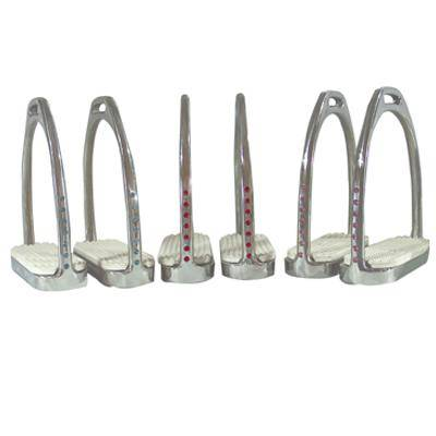 Coronet Fillis Stirrup Irons with Pads and Bling