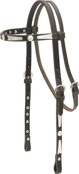 Billy Cook Saddlery Silver Browband Headstall