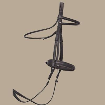 ThinLine Dressage Bridle with Plain Noseband