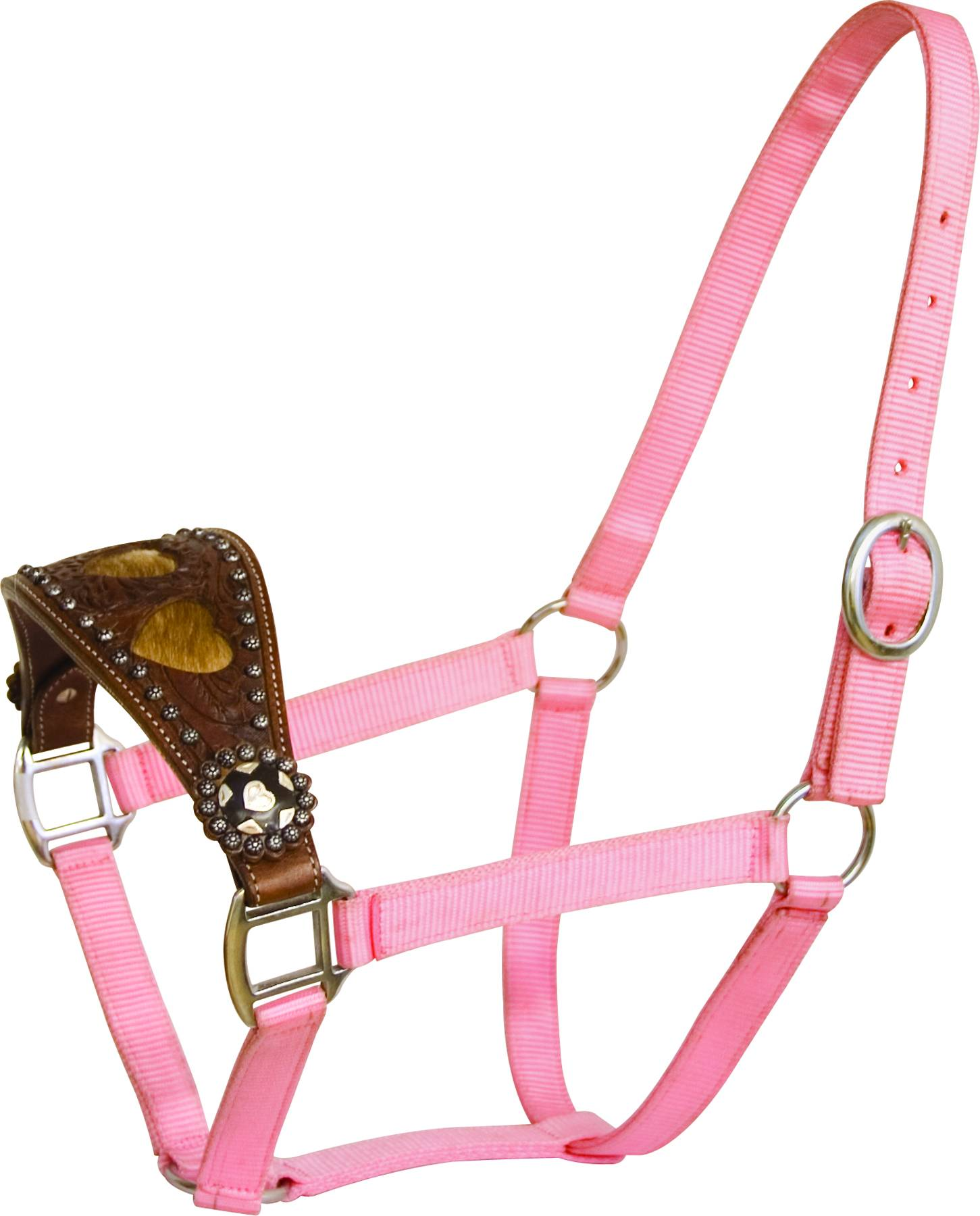 Abetta Halter with Wide Noseband with Heart Overlay
